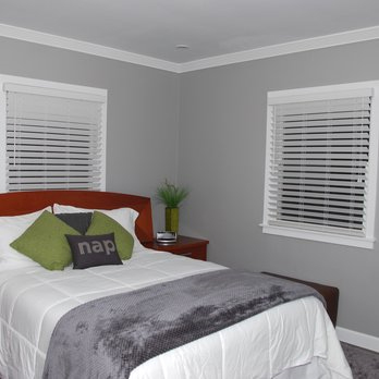 White Wooden Blinds In Guest Bedroom Were A Perfect Choice (from Allbright  Windows And Floor Covering In North Hills, CA).